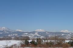 千曲川から見た北信五岳は雄大です